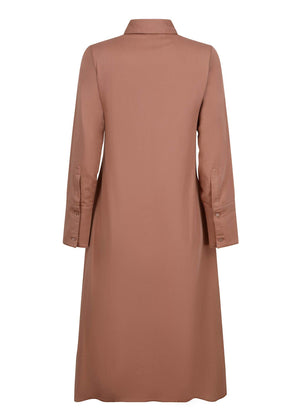 Eyelet Shirt Dress Peach Mocha