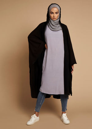 Hooded Knit Cape