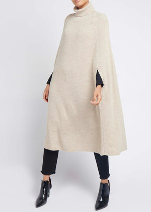 Knitted Cape Cream