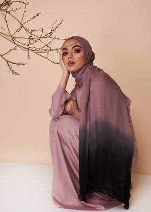 Long Line Abaya in Dusty Pink by Aab