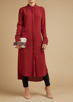 Shirt Dress Red Pear