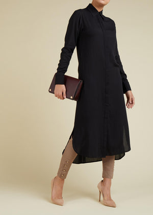 Simply Shirt Dress Black