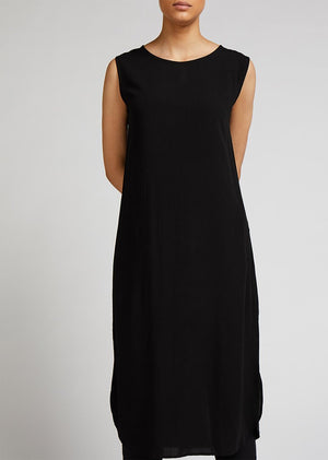 Slip Dress Black - 3 Quarter Length