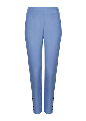 Silver Rim Button Trousers Blue Aab