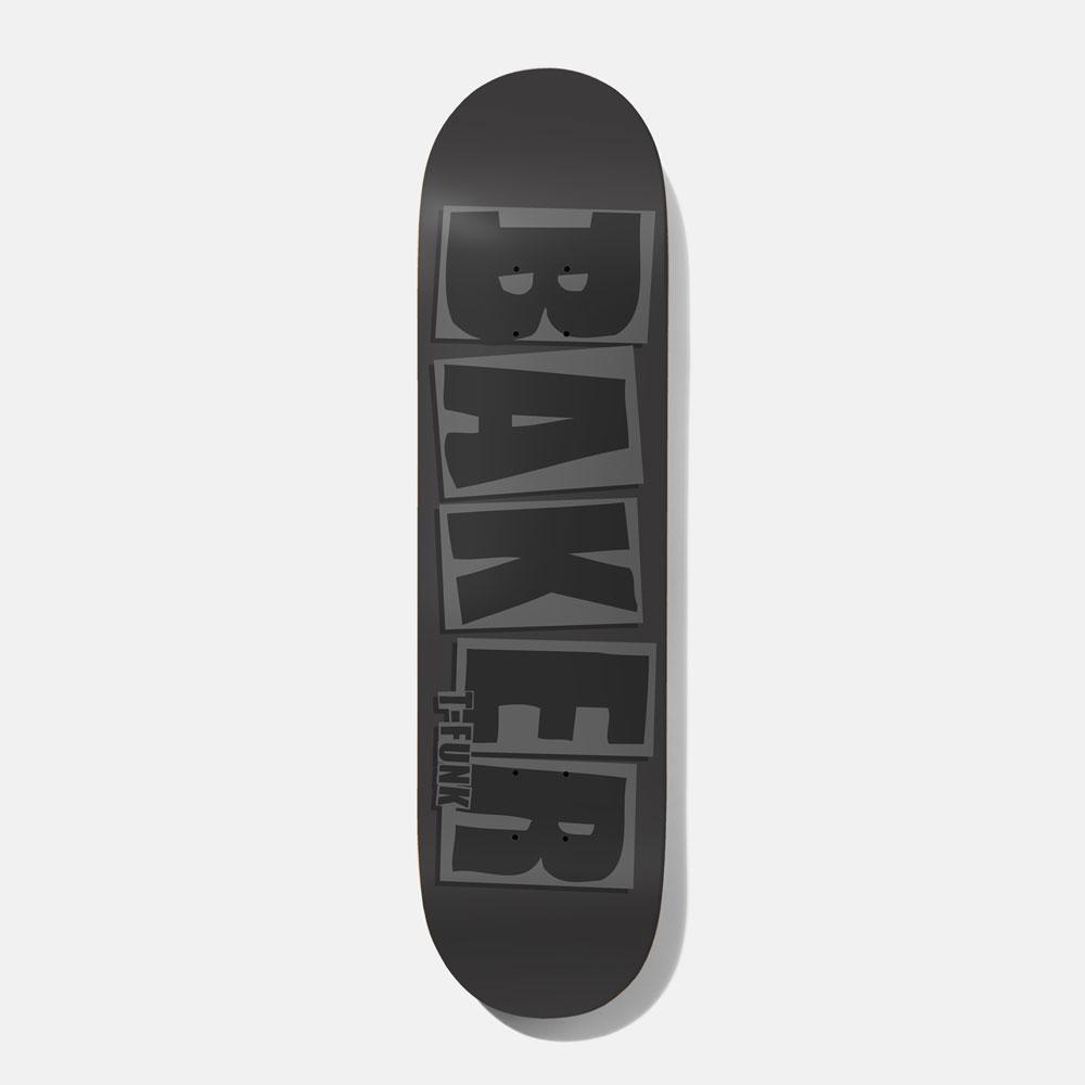 Baker T-Funk Brand Name Grey 8.5 Skateboard Deck
