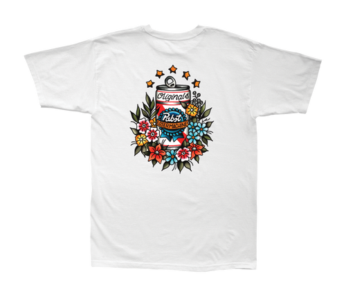 LOSER MACHINE CO. LMC X PBR TROPICAL STOCK SHORT SLEEVE T-SHIRT