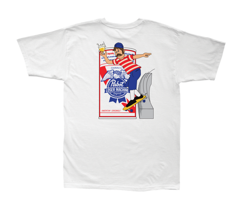 LOSER MACHINE CO. LMC X PBR COLD BLUE STOCK SHORT SLEEVE T-SHIRT