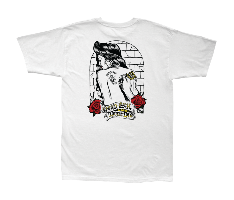 LOSER MACHINE CO. ROSE TATTOO STOCK SHORT SLEEVE T-SHIRT
