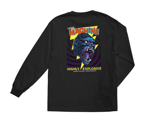 Loser Machine Co. Mens Great Gorilla Long Sleeve T-Shirt