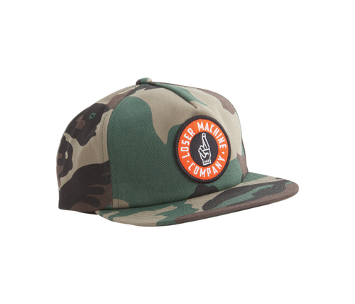 LOSER MACHINE CO. GOOD LUCK SNAPBACK CAMO