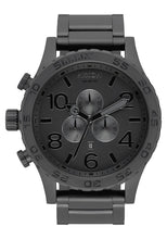 Load image into Gallery viewer, Nixon Watch 51-30 Chrono All Matte Black / Black A083-3086