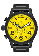 Load image into Gallery viewer, Nixon Watch 51-30 Chrono All Black / Yellow A083-3132