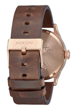 Load image into Gallery viewer, Nixon Watch Sentry Leather Rose Gold / Burgundy / Brown A105-3211