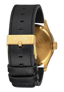 Nixon Watch Sentry Leather Gold / Black A105-513