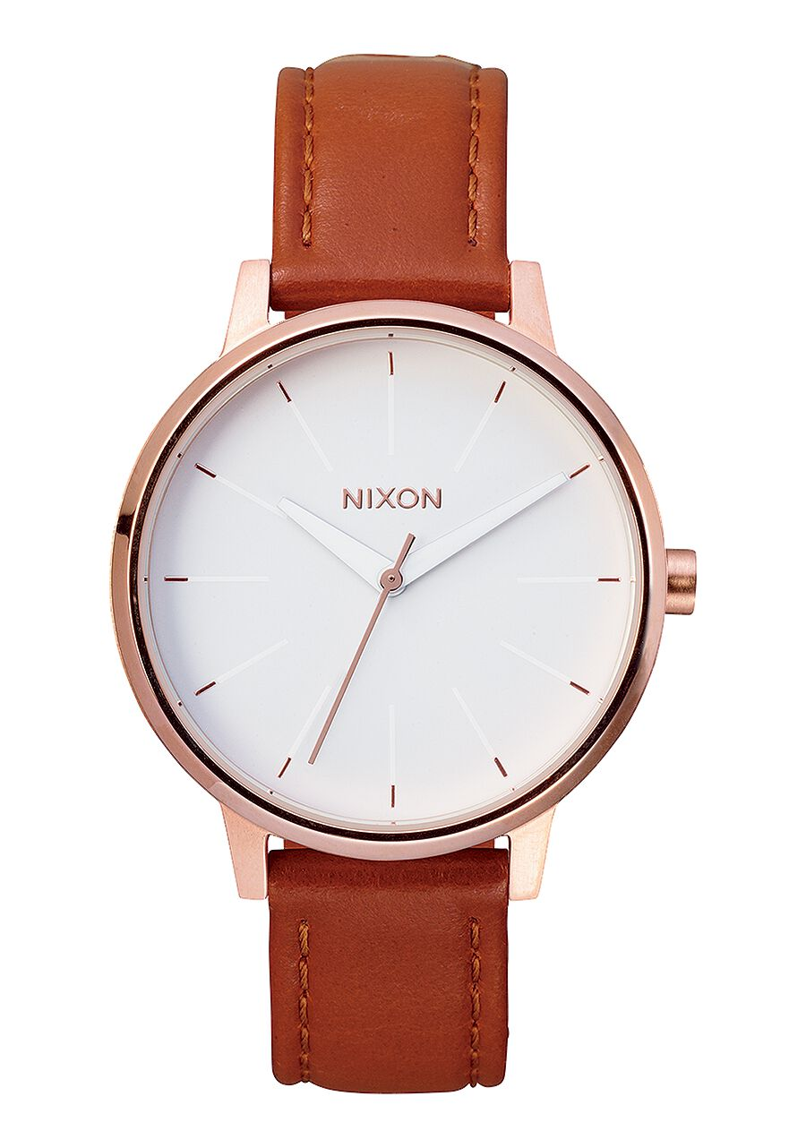 Nixon Watch Kensington Leather Rose Gold / White A108-1045