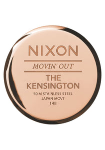 Nixon Watch Kensington Leather Rose Gold / Black A108-1098