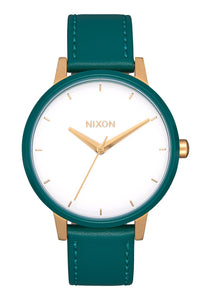 Nixon Watch Kensington Leather Gold / White / Teal A108-3229