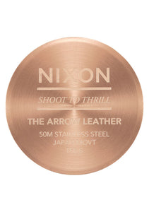 Nixon Watch Arrow Leather Rose Gold / Black A1091-1098