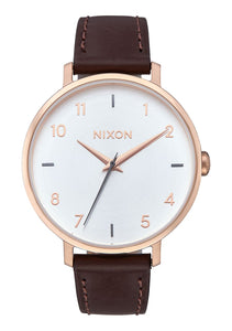Nixon Watch Arrow Leather Rose Gold / Silver A1091-2369