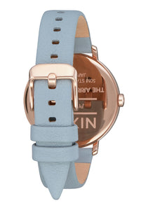 Nixon Watch Arrow Leather Rose Gold / Blue A1091-2704