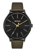 Load image into Gallery viewer, Nixon Watch Clique Leather Black / Fatigue A1250-178