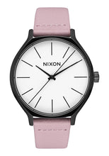 Load image into Gallery viewer, Nixon Watch Clique Leather Black / Coral A1250-3318