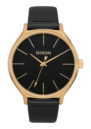 Nixon Watch Clique Leather Gold / Black A1250-513