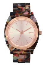 Load image into Gallery viewer, Nixon Watch Time Teller Acetate Rose Gold / Pink Tortoise A327-3233