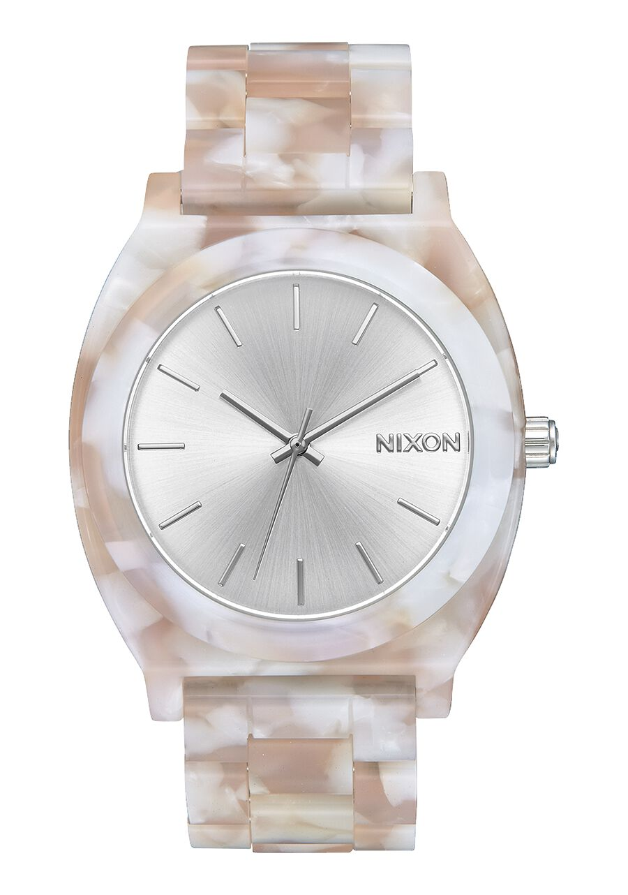 Nixon Watch Time Teller Acetate Pink / Silver A327-718