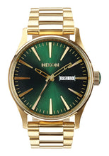 Load image into Gallery viewer, Nixon Watch Sentry SS Gold / Green Sunray A356-1919