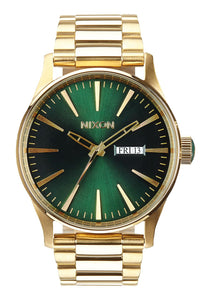 Nixon Watch Sentry SS Gold / Green Sunray A356-1919