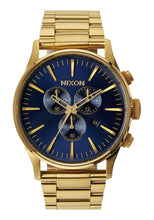 Load image into Gallery viewer, Nixon Watch Sentry Chrono Gold / Blue Sunray A386-1922
