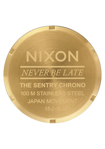 Nixon Watch Sentry Chrono Gold / Blue Sunray A386-1922