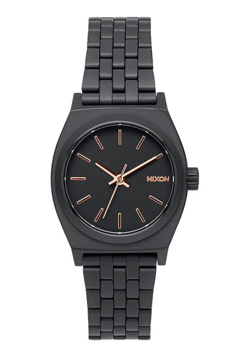 Nixon Watch Small Time Teller All Black / Rose Gold A399-957