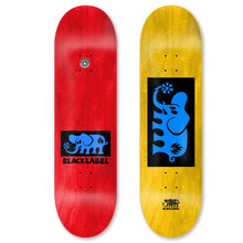 "Load image into Gallery viewer, Black Label Elephant Block Blue 8.125"" Skateboard Deck w/mob"