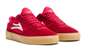 LAKAI MENS CAMBRIDGE RED/GUM SUEDE MS1190252A00-REGUS