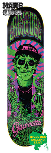 Creature Smokers Club Gravette 8.3in x 32.2in Skateboard Deck