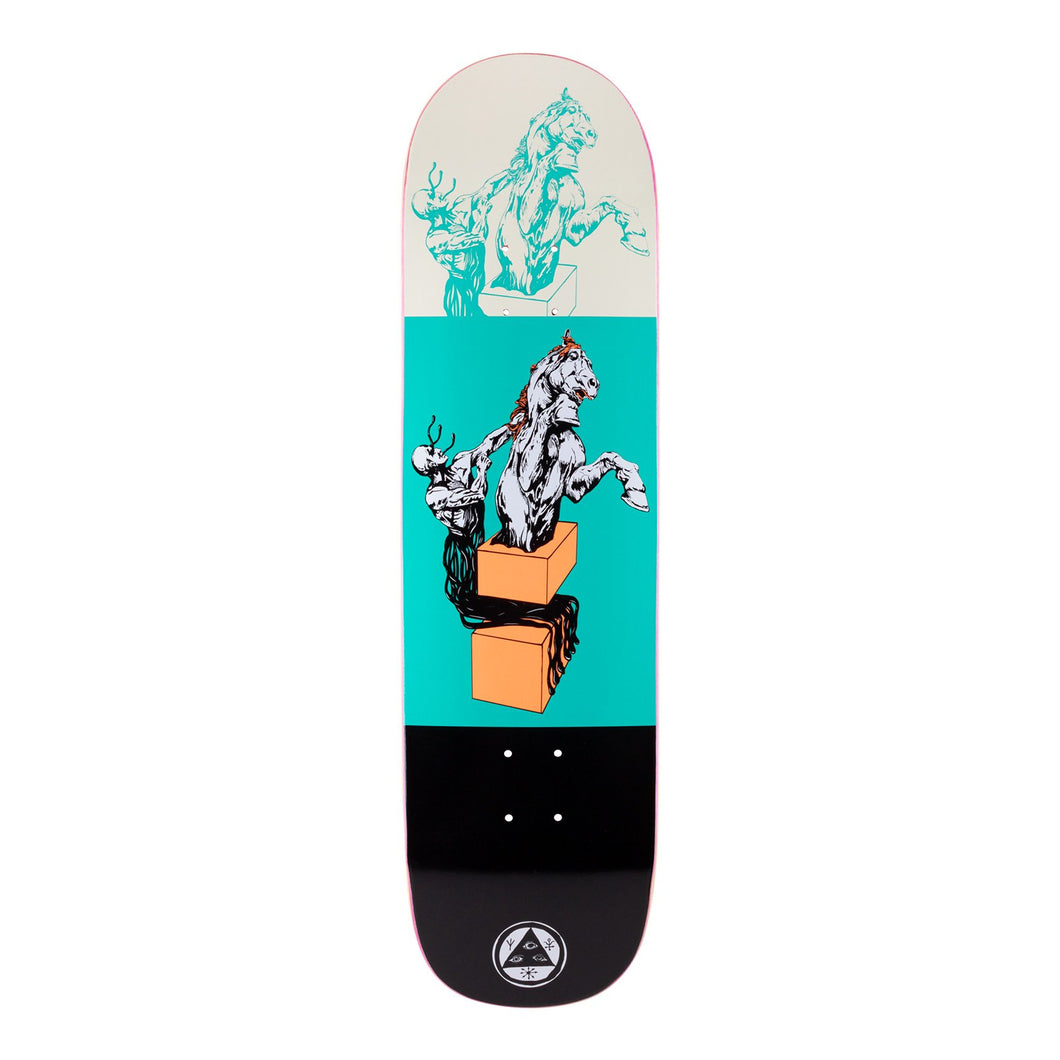 Welcome Skateboards Hierophant on Big Bunyip Teal/Black 8.5 x 32.5 Deck w/grip