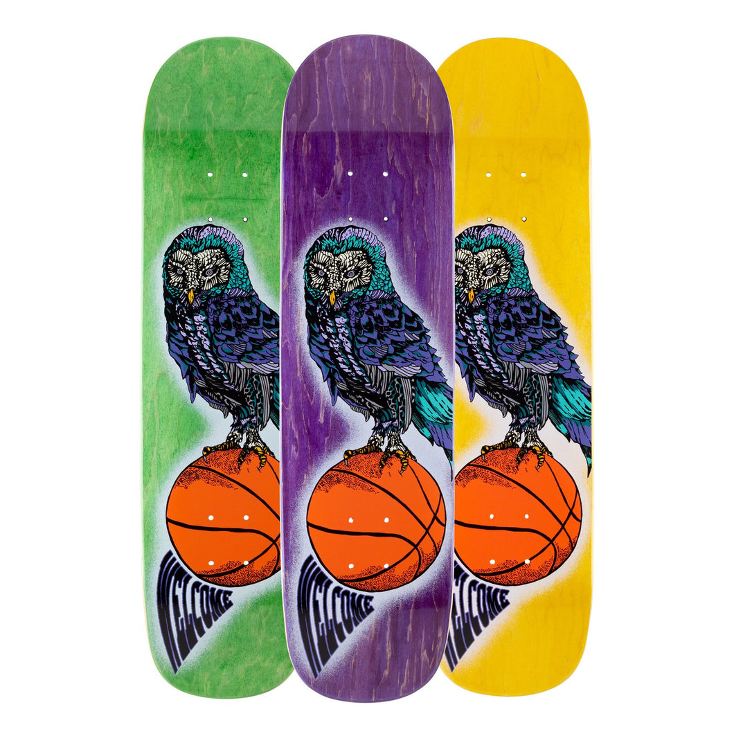 Welcome Skateboards Hooter Shooter on Bunyip Various Stains 8.0 x 31.6 Deck w/Grip
