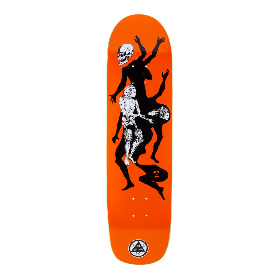 Welcome Skateboards The Magician on Son of Planchette Orange 8.38 x 32.25 Deck w/Grip