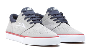 LAKAI MENS FREMONT VLC LIGHT GREY/NAVY SUEDE MS1200244A00-LGRNS