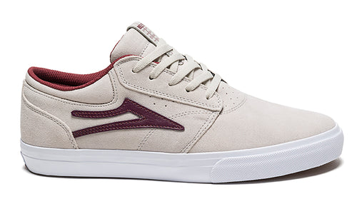 LAKAI MENS GRIFFIN WHITE/BURGUNDY SUEDE MS1180227A00-WHBUS