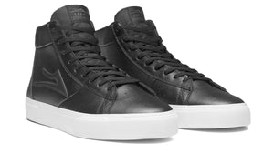 LAKAI MENS NEWPORT HIGH BLACK LEATHER MS4190253A00-BKLTR