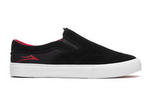 Load image into Gallery viewer, LAKAI MENS OWEN KIDS BLACK/RED SUEDE KS4190232A00-BKRES