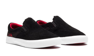 LAKAI MENS OWEN KIDS BLACK/RED SUEDE KS4190232A00-BKRES