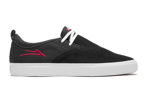 LAKAI MENS RILEY 2 BLACK/RED SUEDE MS1200091A00-BKRES
