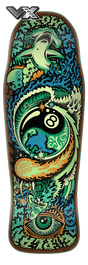 Santa Cruz Winkowski Dope Planet VX Deck 10.34in x 30.54in Skateboard Deck