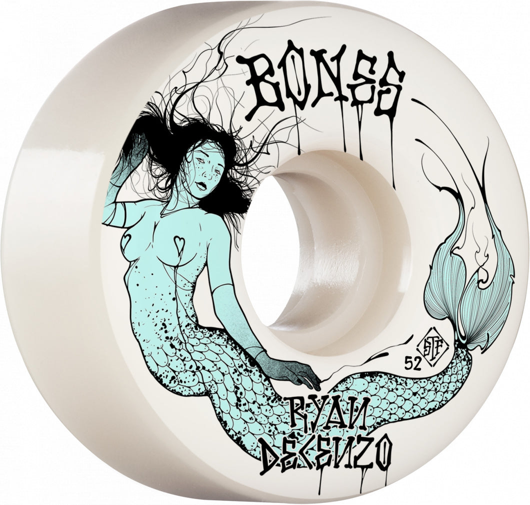 Bones Wheels Decenzo Mermaid 52mm 103A Locks