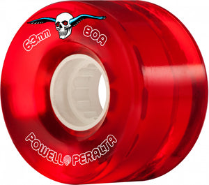 Powell Peralta Clear Cruisers 63mm 80A Red