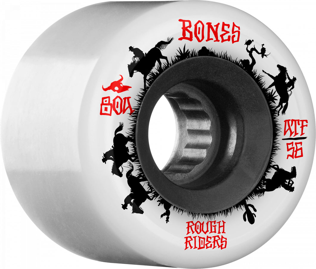 Bones Wheels Rough Riders Wranglers 56mm White
